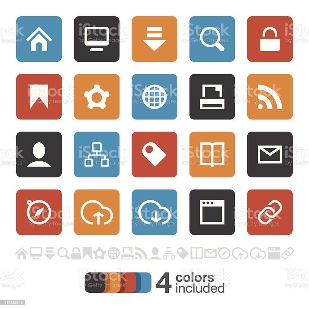 Internet and Website icons set 1 | Brooklyn Series royalty-free stock vector art