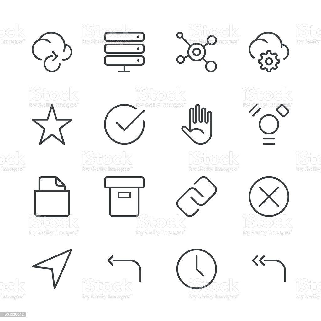 Internet and Website Icons set 3 | Black Line series vector art illustration