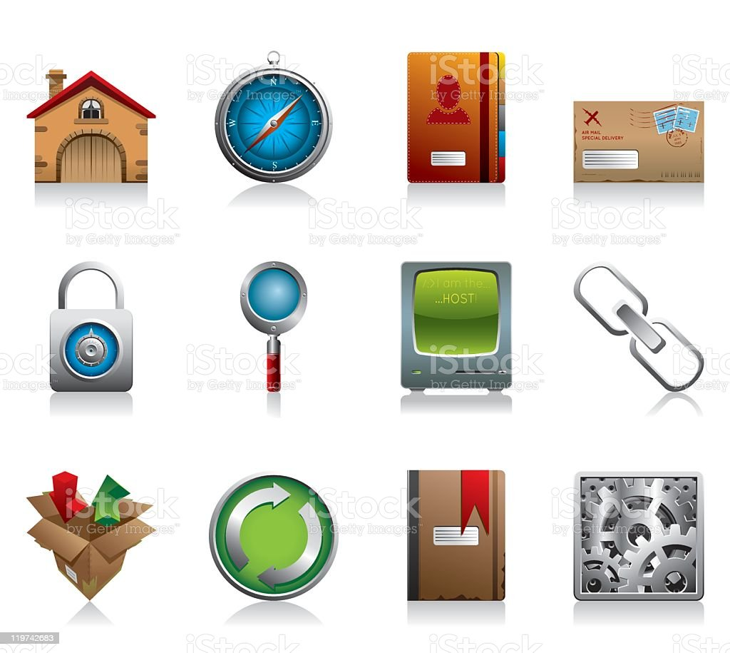 Internet and Website Icons - Ultra Detail Series set 1 royalty-free stock vector art