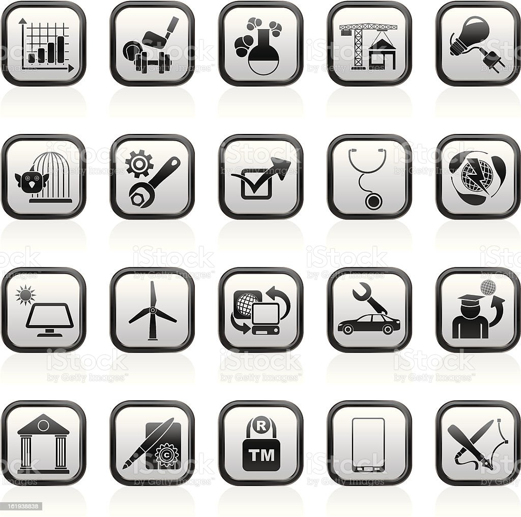 Internet and Website Portal icons royalty-free stock vector art