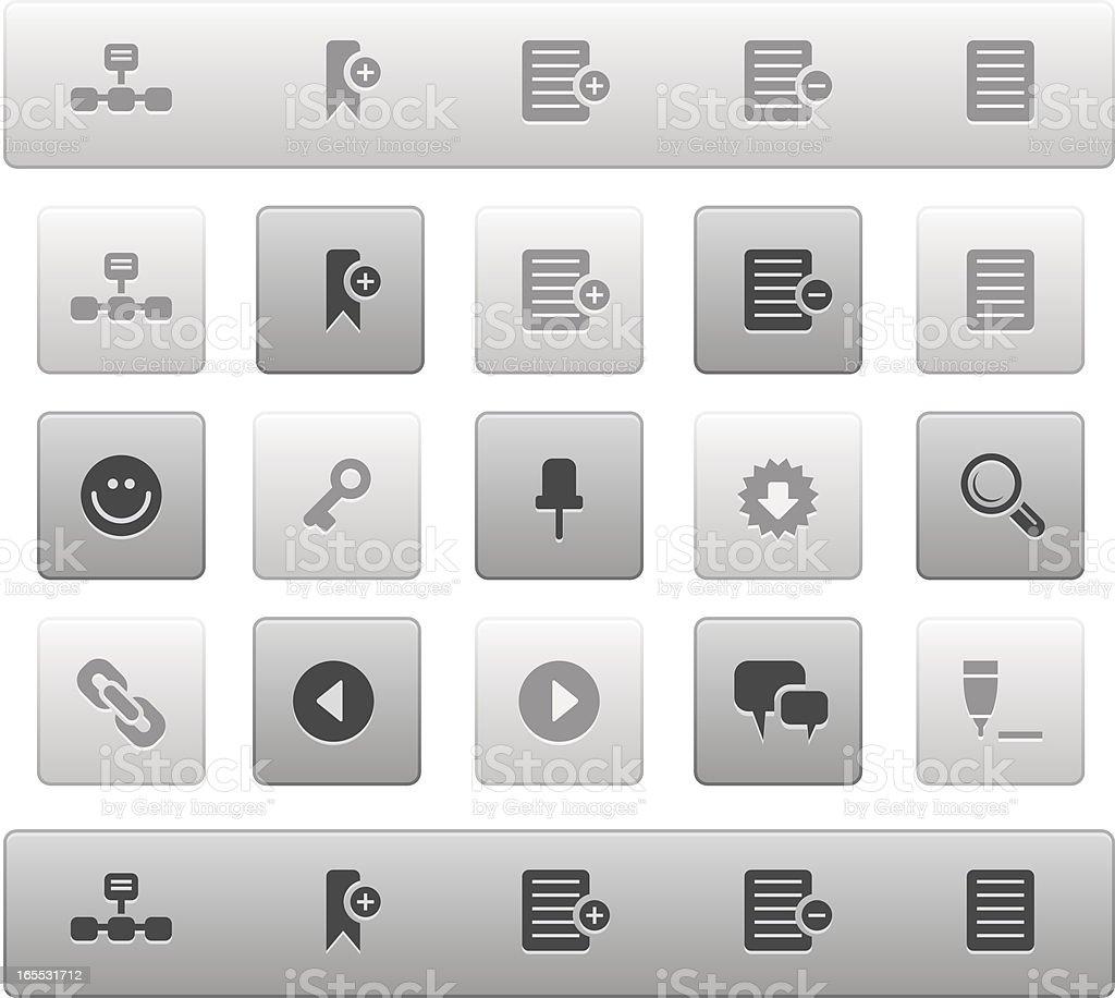 Internet & Blogs Icon Set. Mono Series royalty-free stock vector art