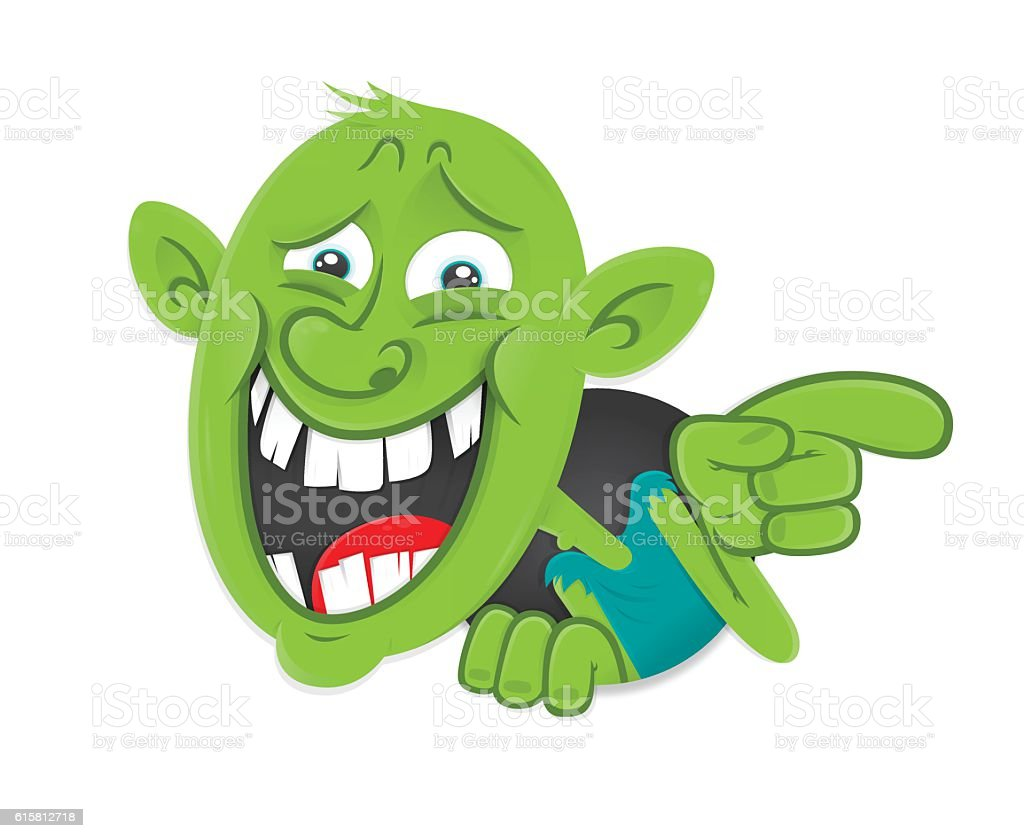 Internet bully troll mocking contemptuous sarcastic laughter vector art illustration
