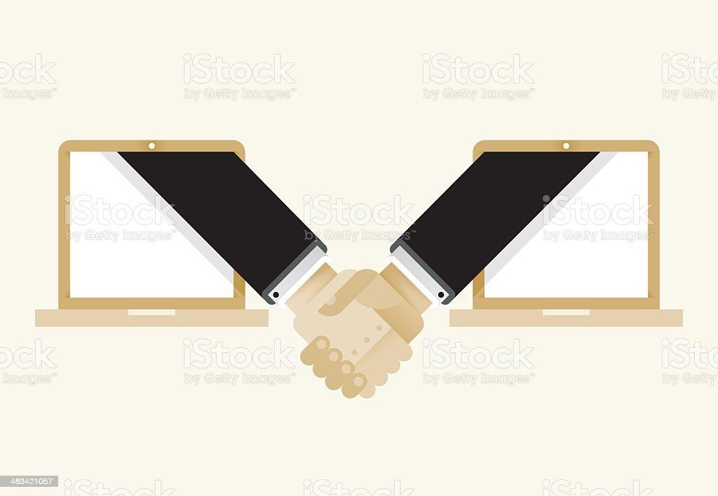 Internet Business Deal royalty-free stock vector art