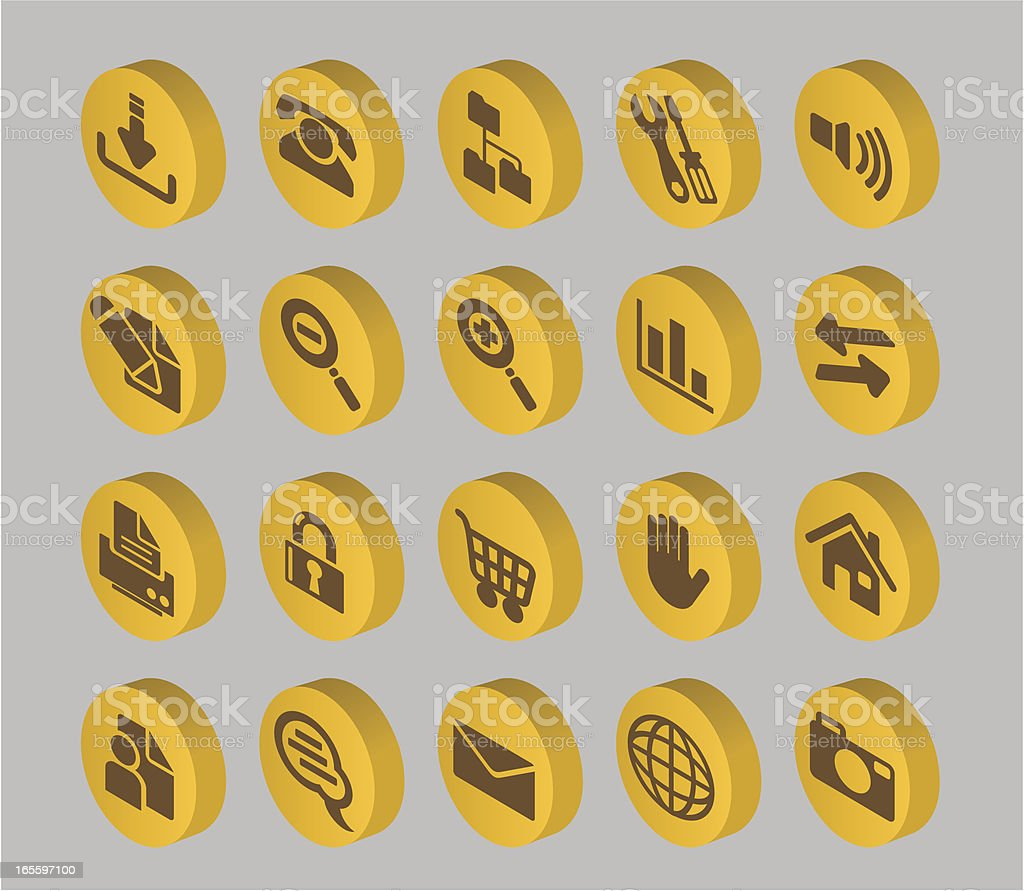 Internet Button Collection royalty-free stock vector art