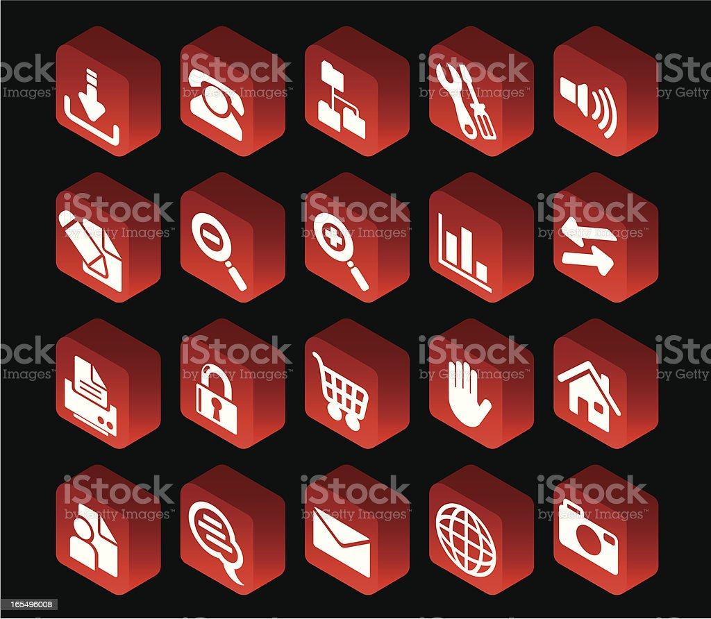 Internet Button Set royalty-free stock vector art