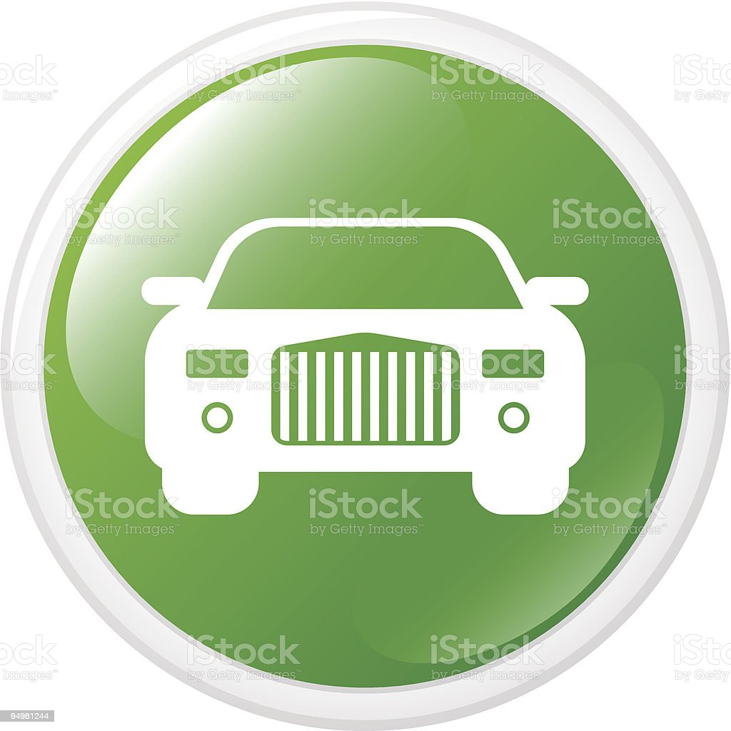 Internet button with car royalty-free stock vector art