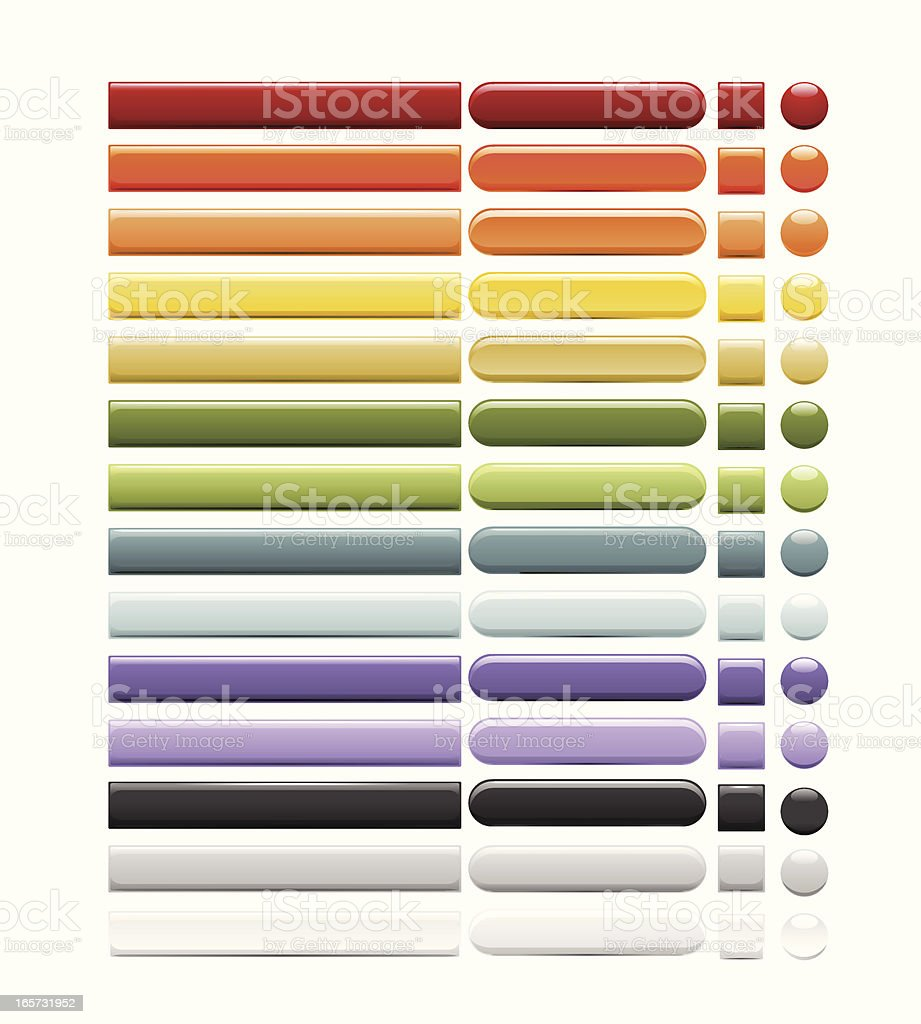 Internet Buttons royalty-free stock vector art