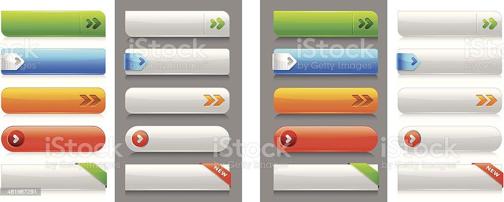 Internet Buttons vector art illustration