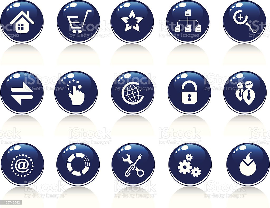 Internet buttons- Webbasic royalty-free stock vector art