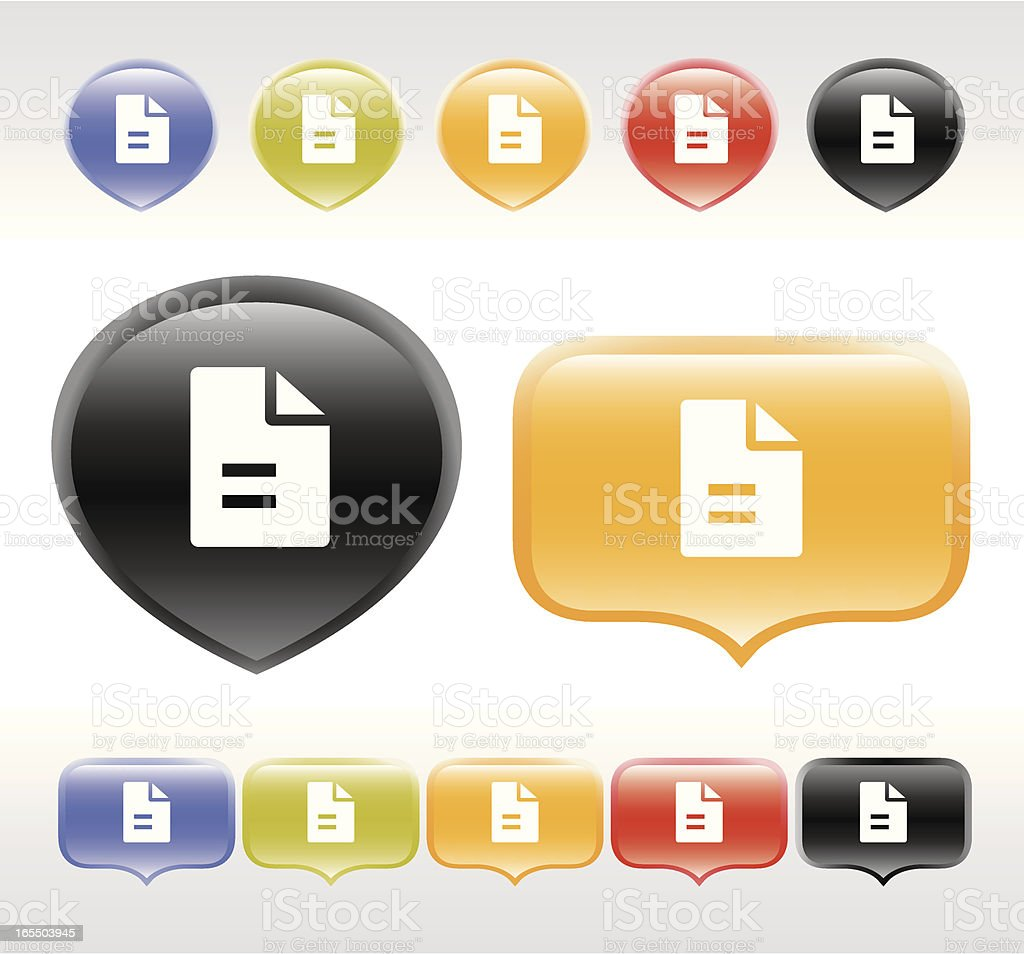 Internet Buttons | www icons vector art illustration