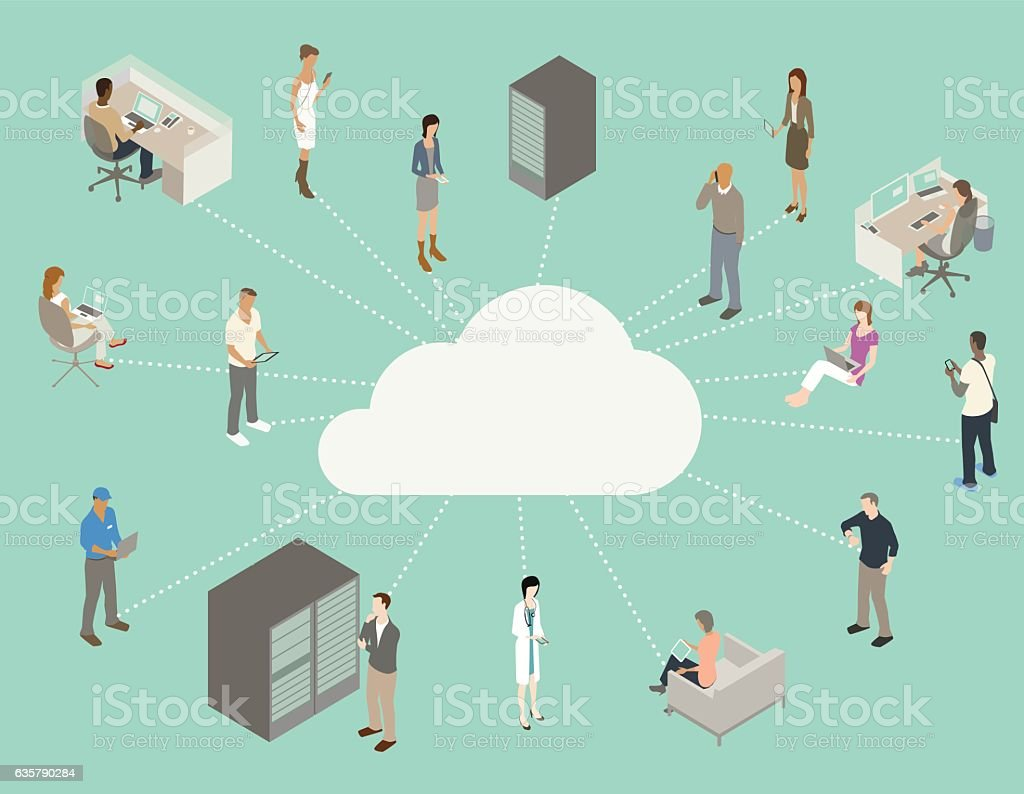 Internet Cloud Diagram Vektor Illustration 635790284 | iStock