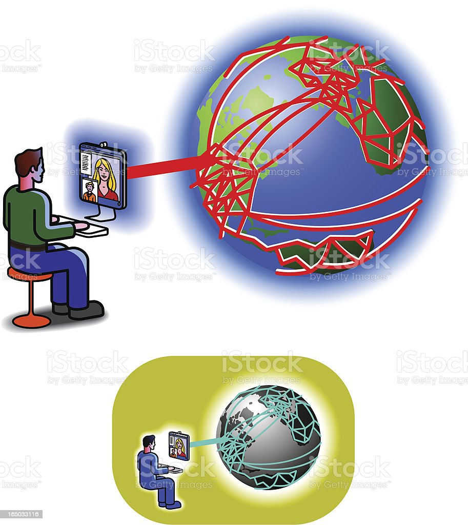 Internet communication royalty-free stock vector art