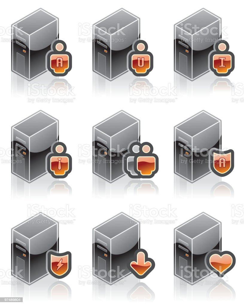 Internet, Computer and Software Icons Set, Design Elements royalty-free stock vector art