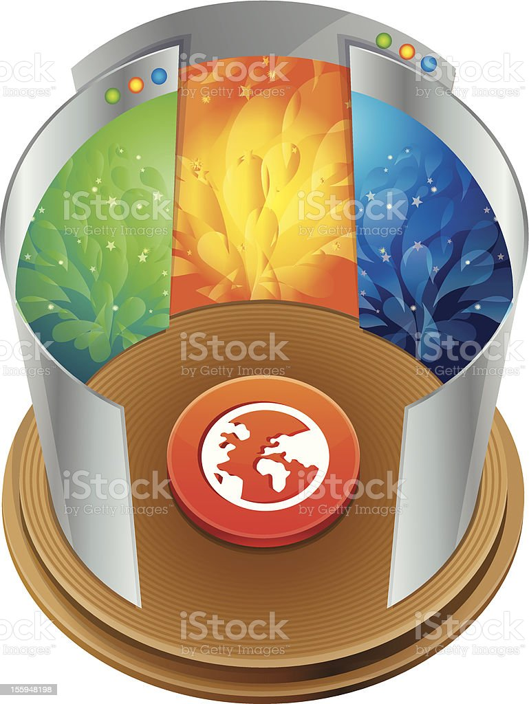 internet concept - vector globe and bright web pages royalty-free stock vector art