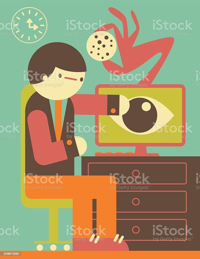 Internet Cookie vector art illustration