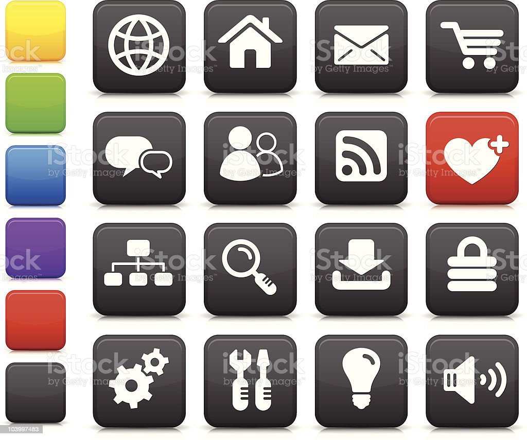 internet design iconography set royalty-free stock vector art