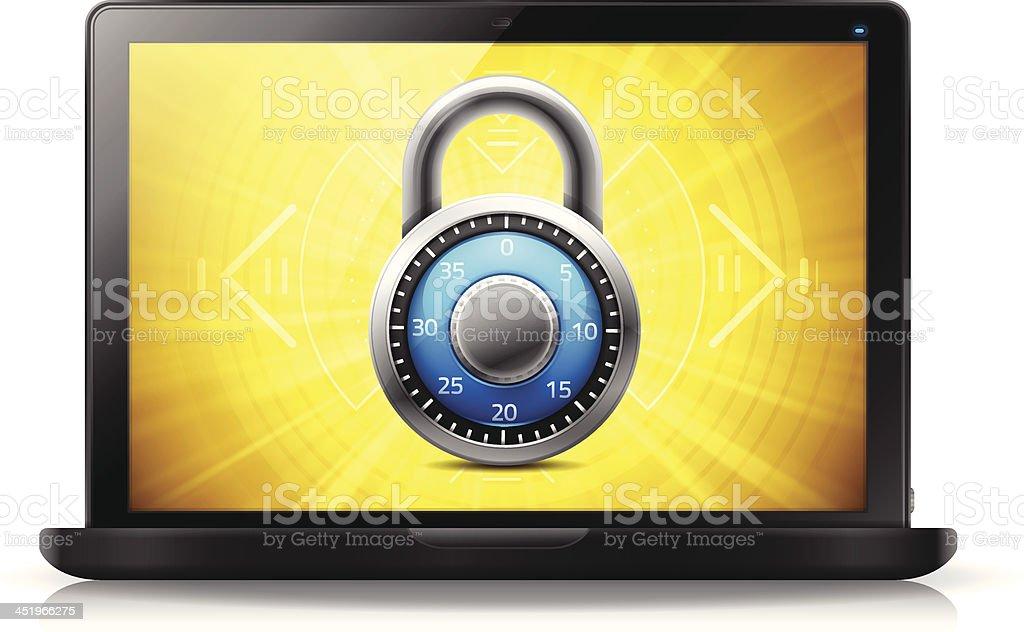 Internet Digital Security royalty-free stock vector art