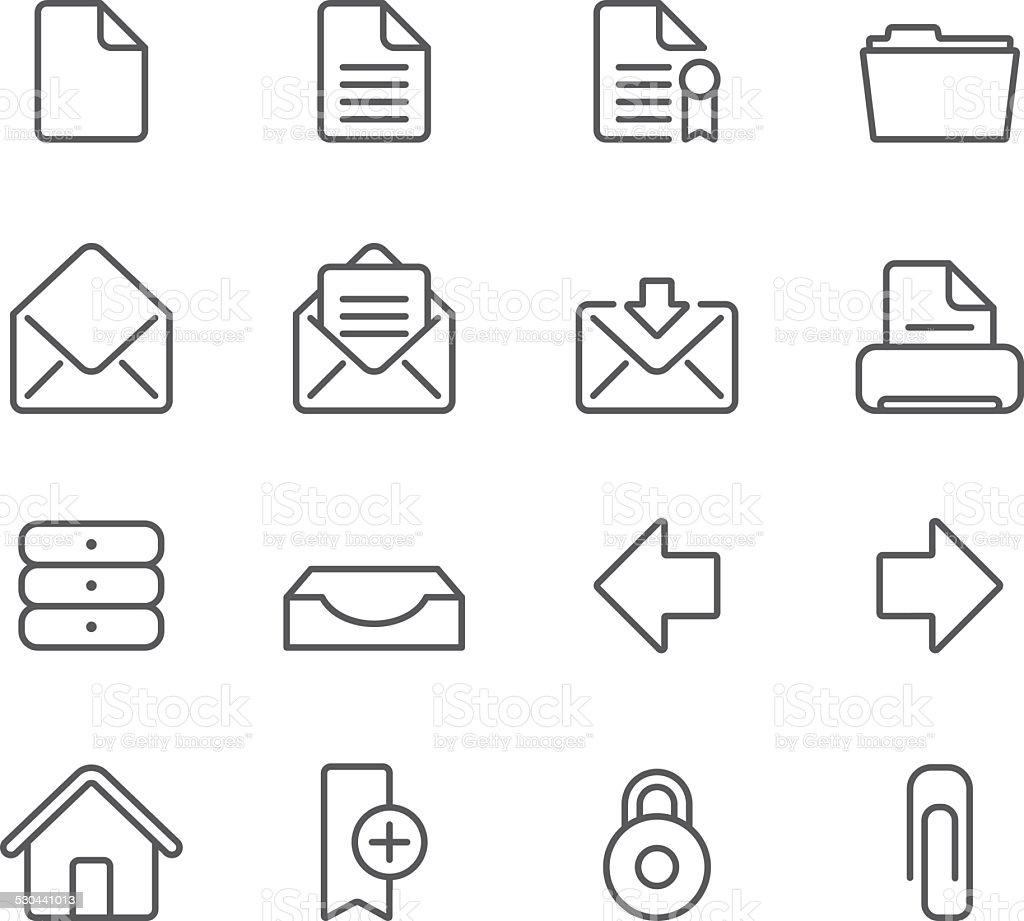 Internet Documents - Simple Icons vector art illustration