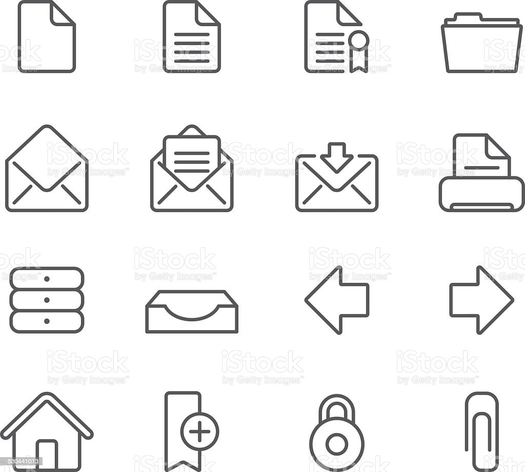 Internet Documents - Simple Icons vector art illustration
