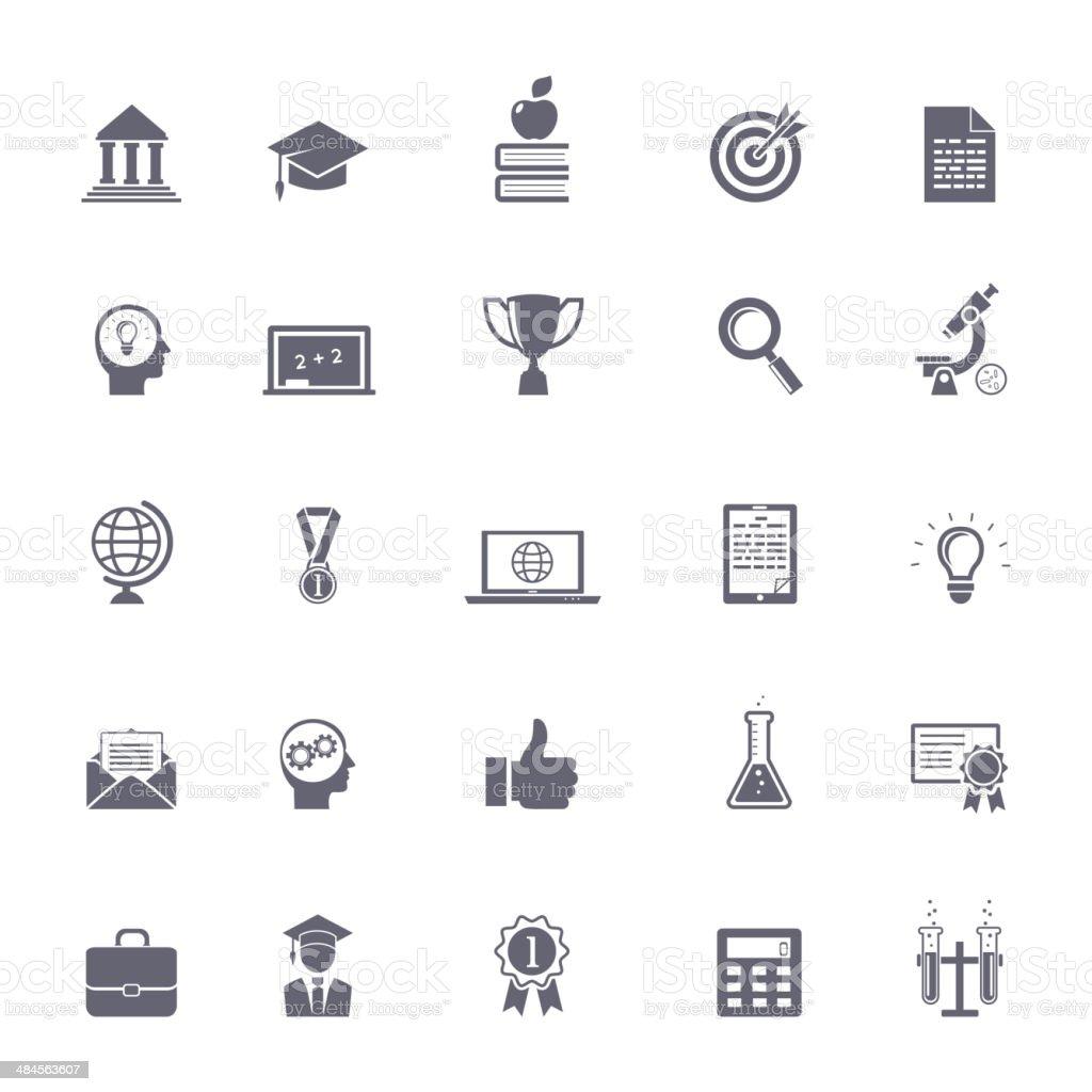 Internet education icons vector art illustration