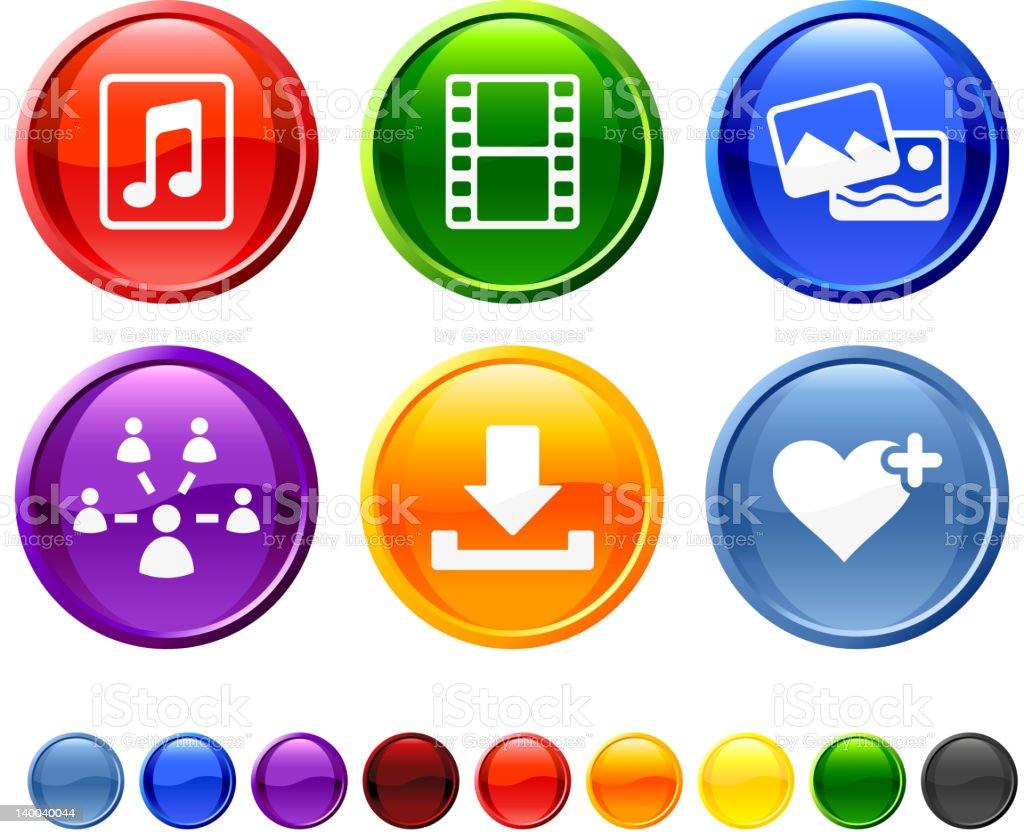 internet file sharing royalty free vector icon set vector art illustration