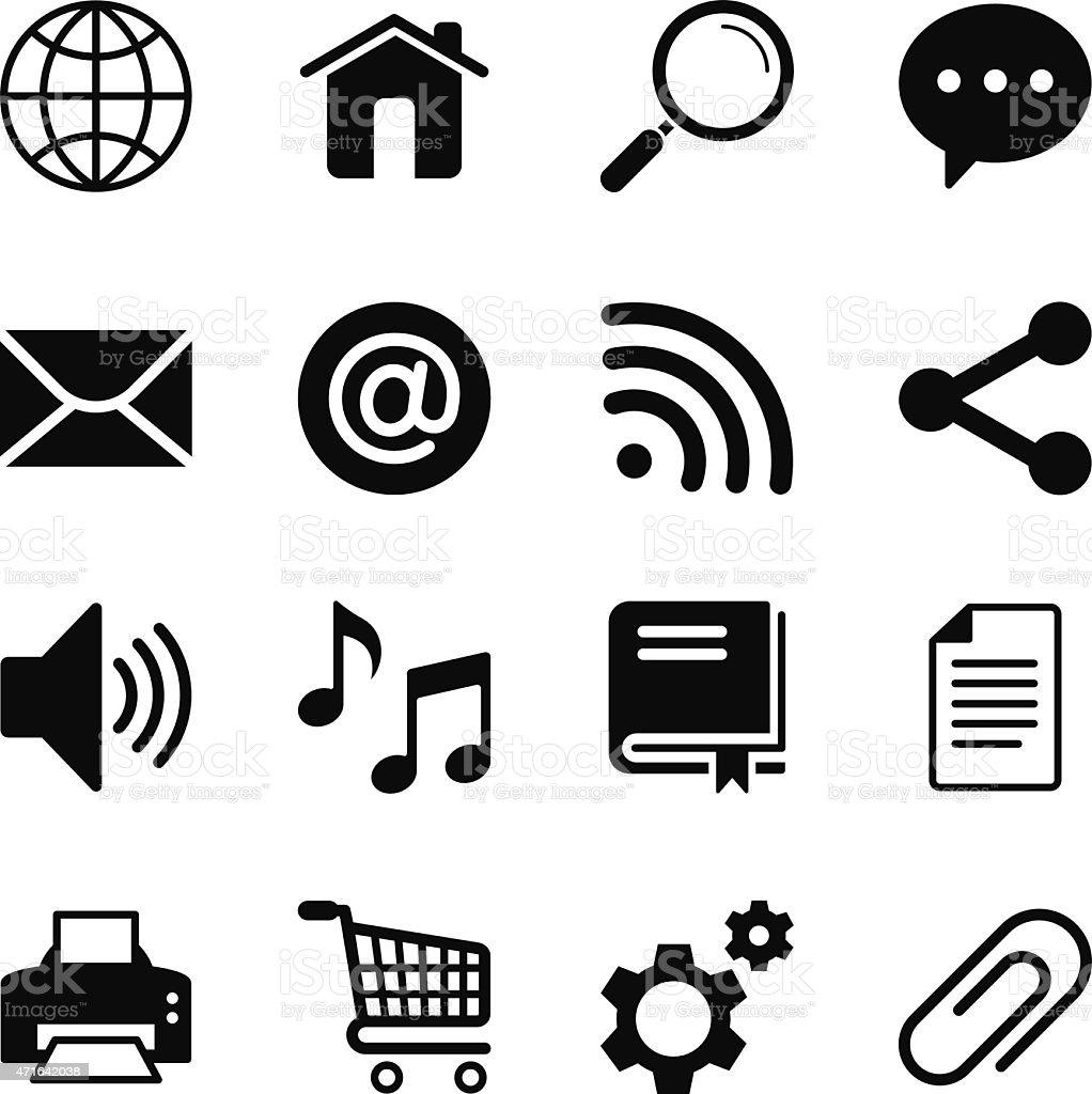 Internet Icon Set 1 vector art illustration