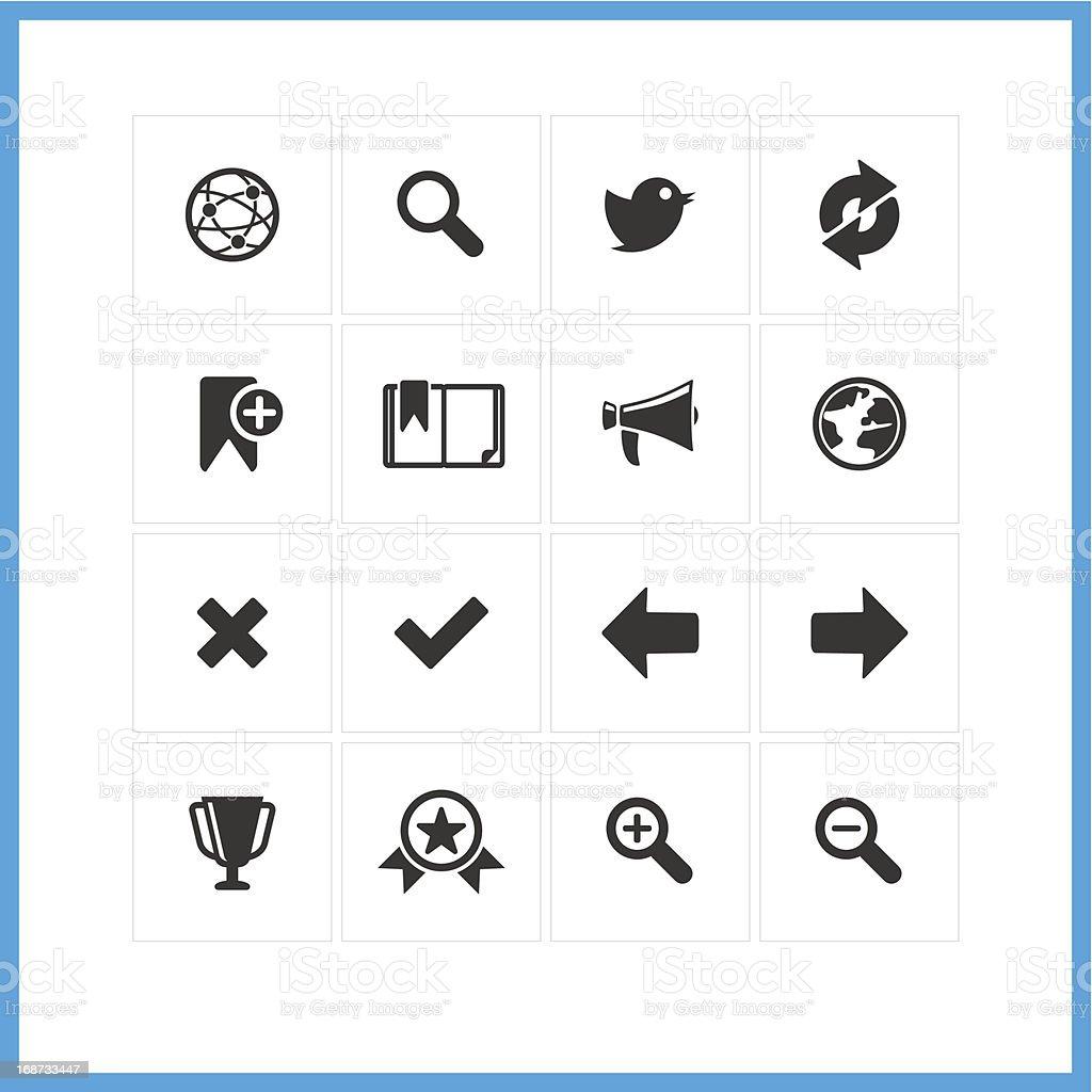 Internet icon set royalty-free stock vector art
