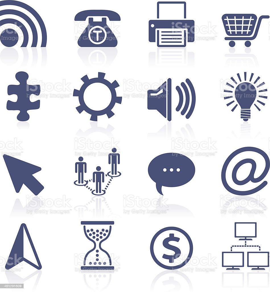 Internet icon set vector art illustration