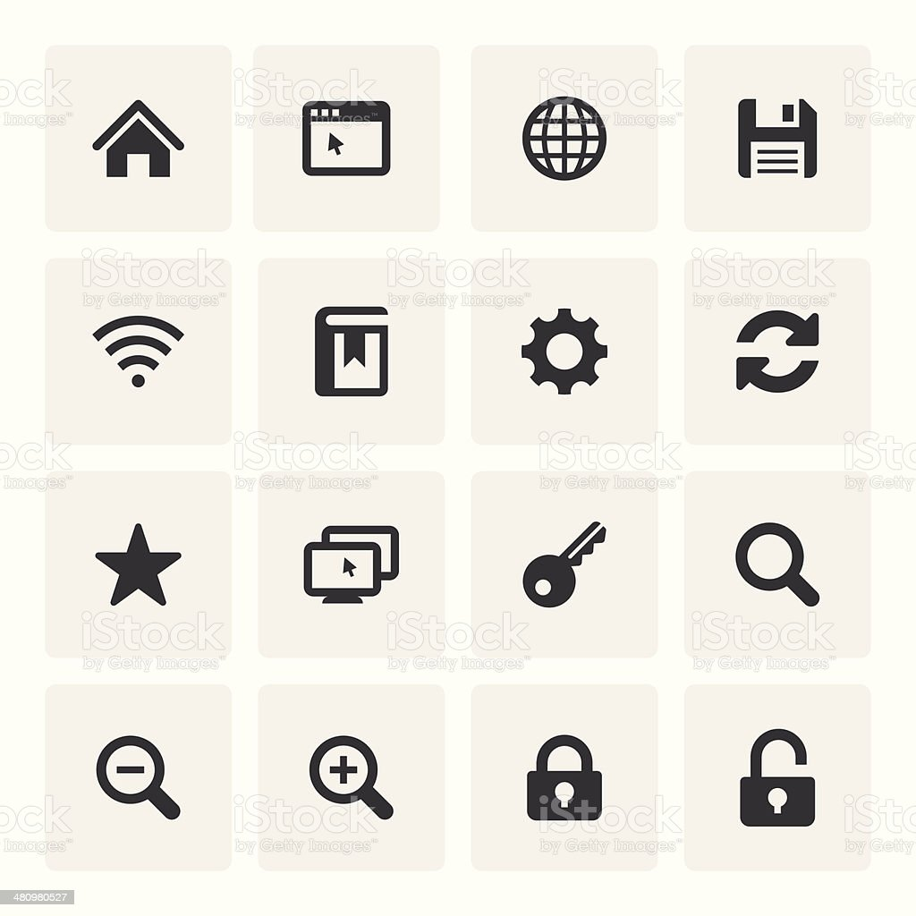 Internet Icon Set (Saro Series) vector art illustration