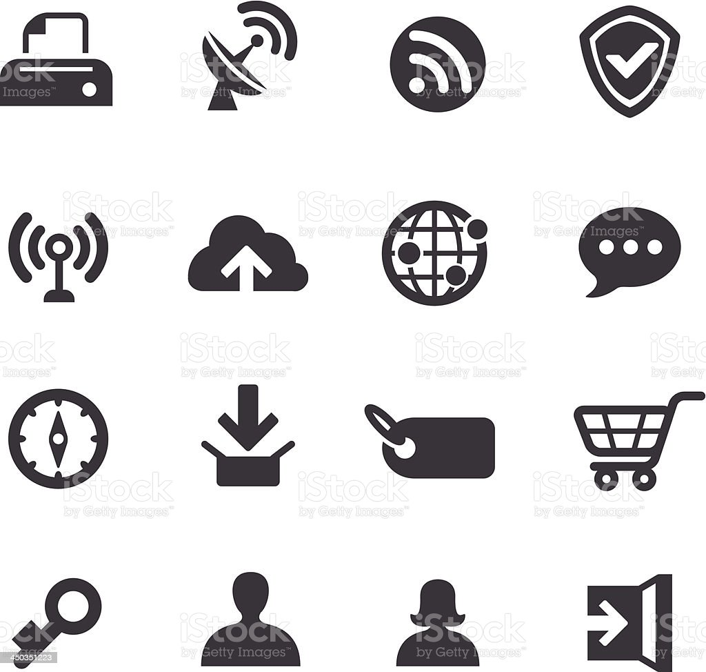 Internet Icons - Acme Series royalty-free stock vector art
