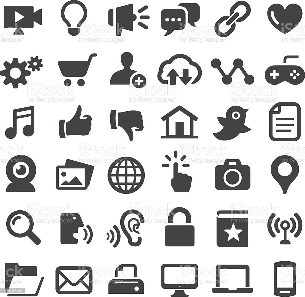 Internet Icons - Big Series vector art illustration