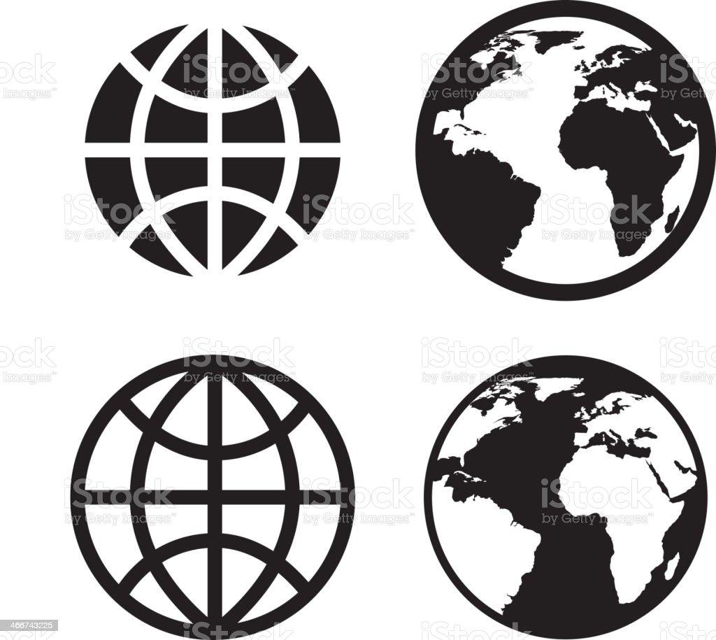 Internet Icons Design vector art illustration