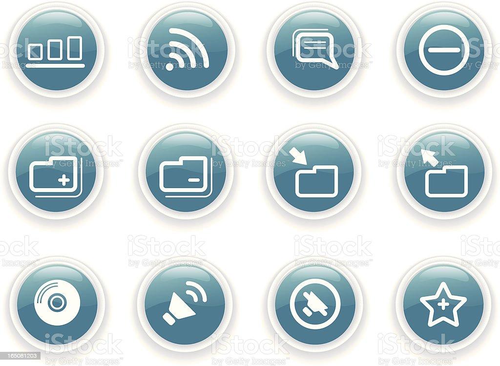 Internet Icons II royalty-free stock vector art
