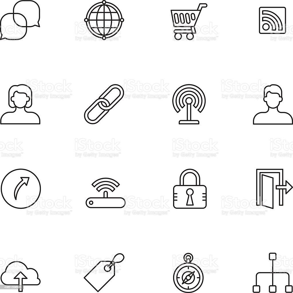 Internet Icons - Light royalty-free stock vector art