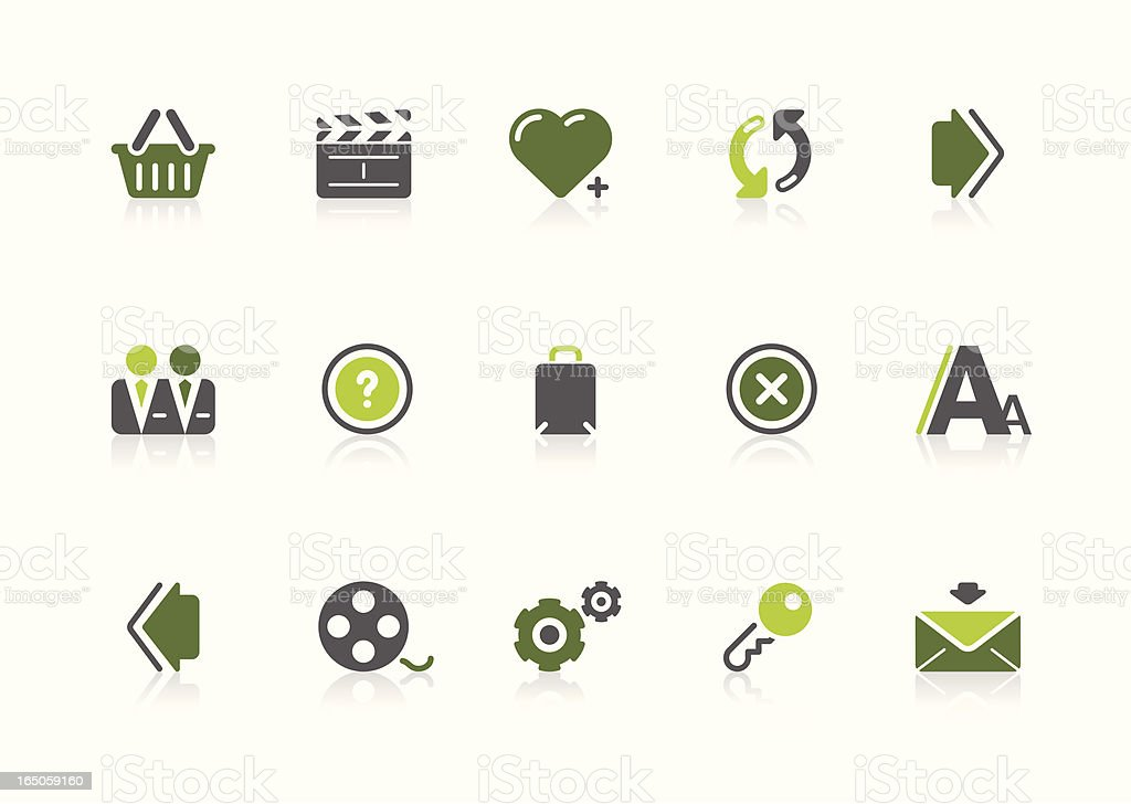 Internet icons | lime series vector art illustration