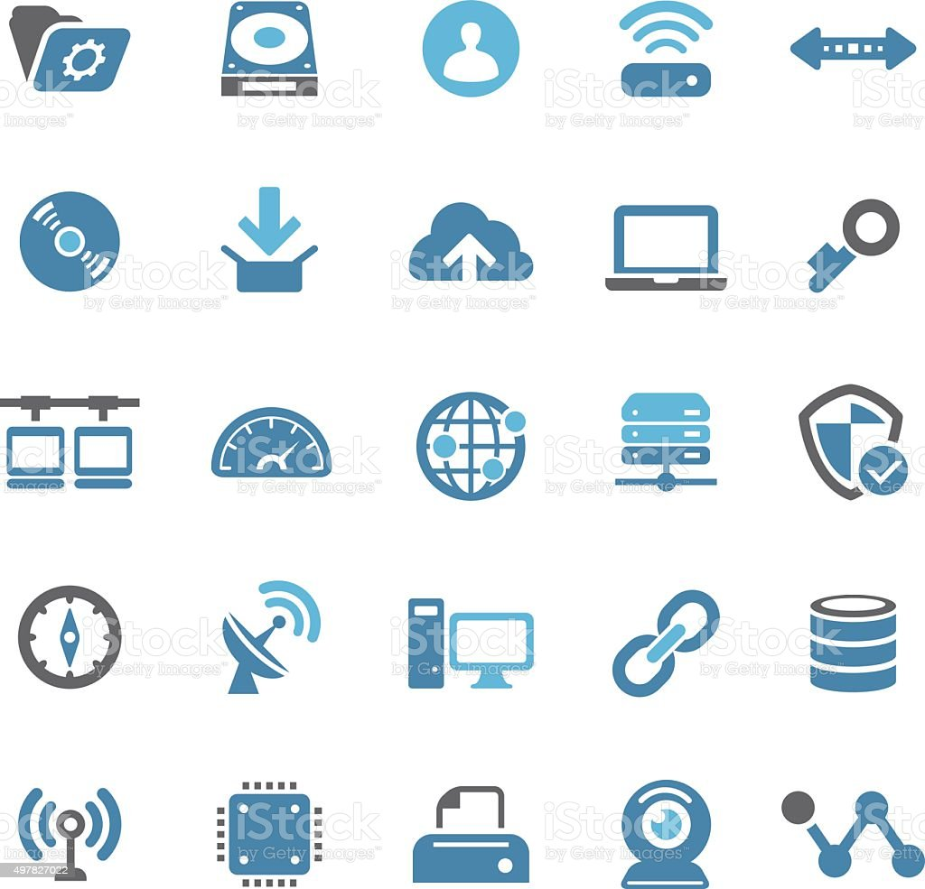 Internet Icons - Qual Series vector art illustration