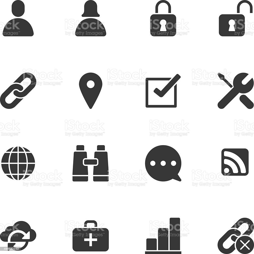 Internet icons - Regular vector art illustration
