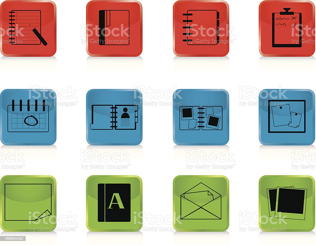 Internet Icons Series 2 - Documents, Buttons vector art illustration