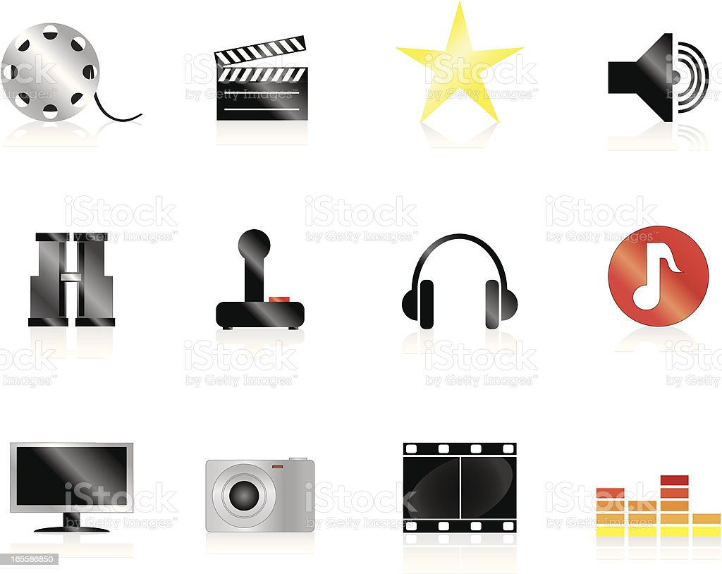 Internet Icons Series 3 - Audio & Visual vector art illustration