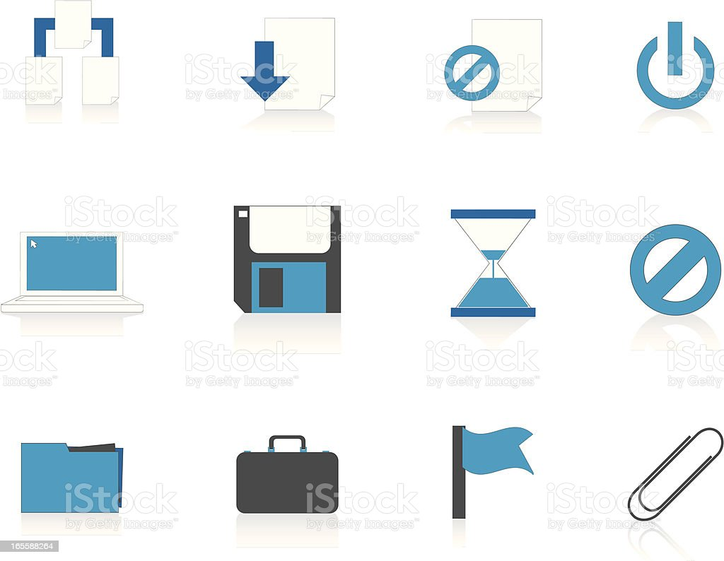 Internet Icons Series 4 - File management, Blue (Aqua) vector art illustration