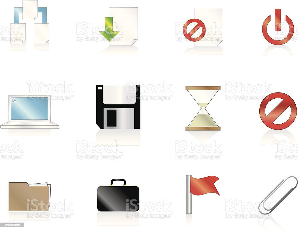 Internet Icons Series 4 - File management vector art illustration