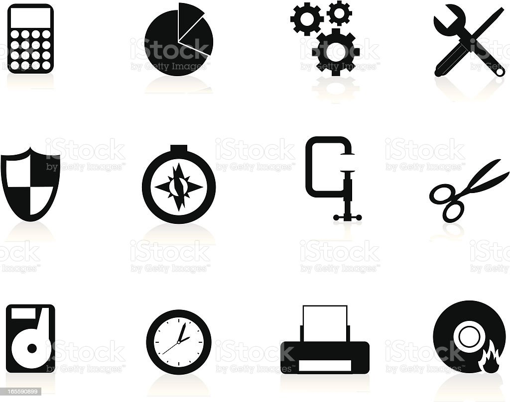 Internet Icons Series 5 - Tools & Utilities, Black vector art illustration