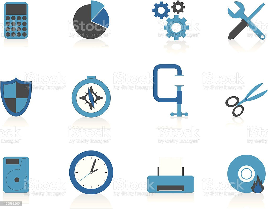 Internet Icons Series 5 - Tools & Utilities, Blue (Aqua) vector art illustration