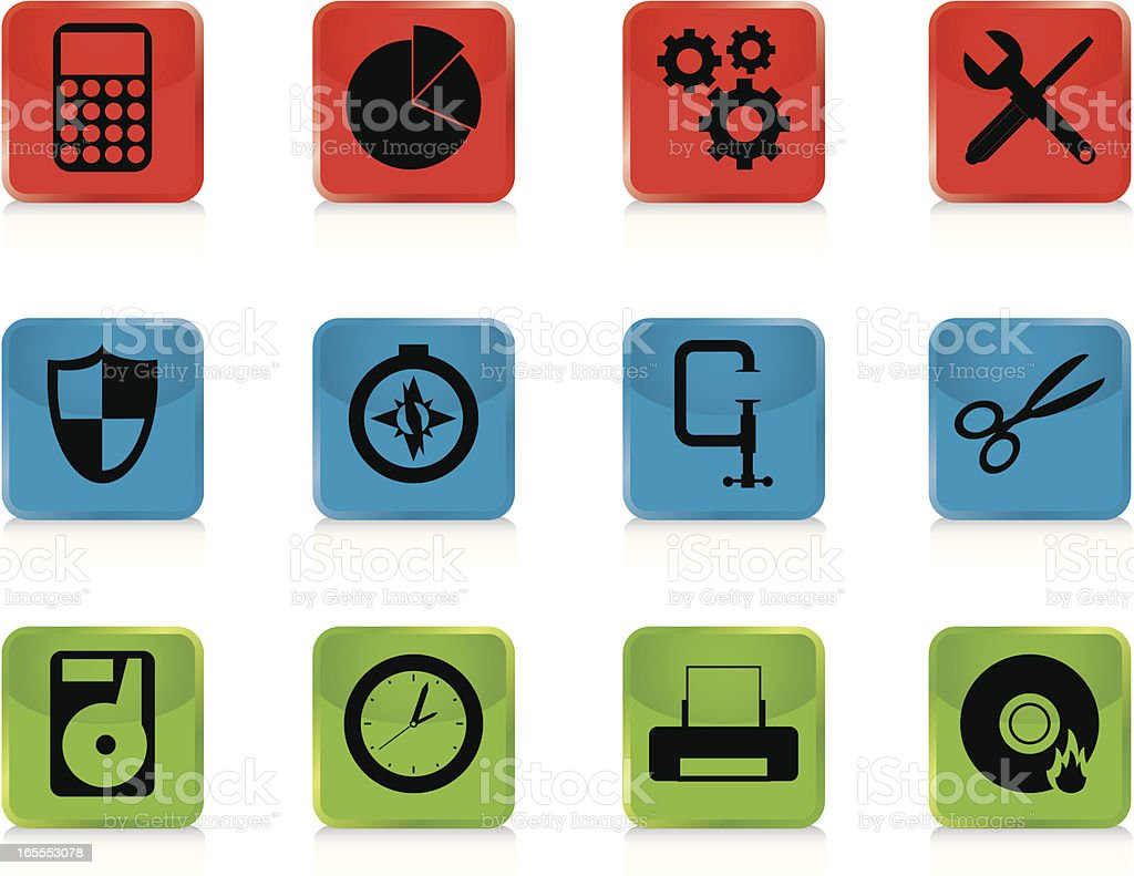 Internet Icons Series 5 - Tools & Utilities, Buttons vector art illustration