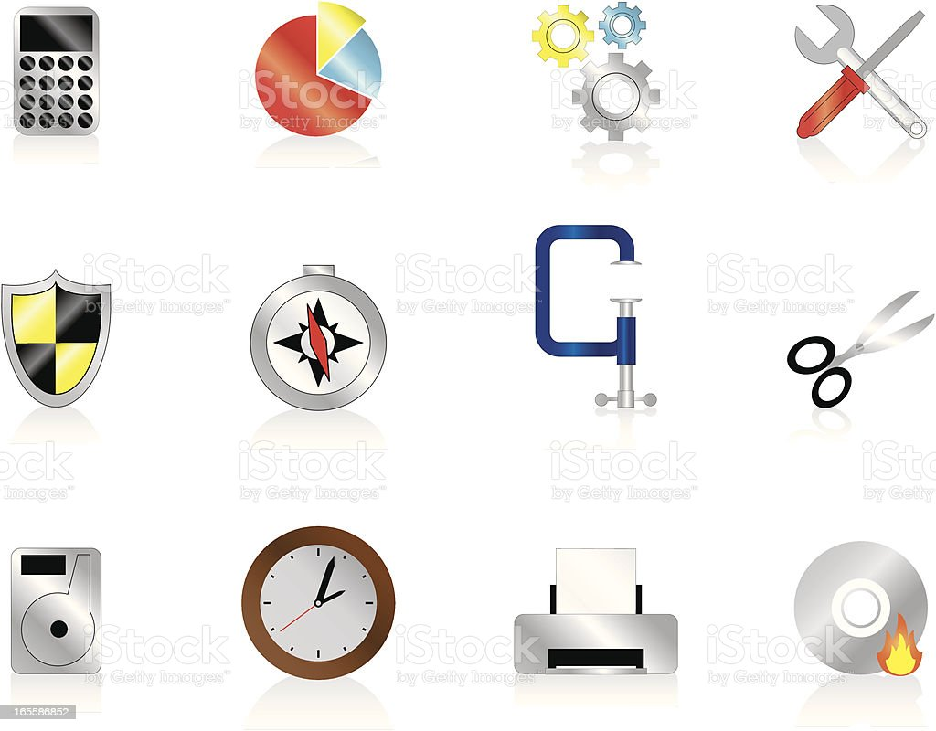 Internet Icons Series 5 - Tools & Utilities vector art illustration