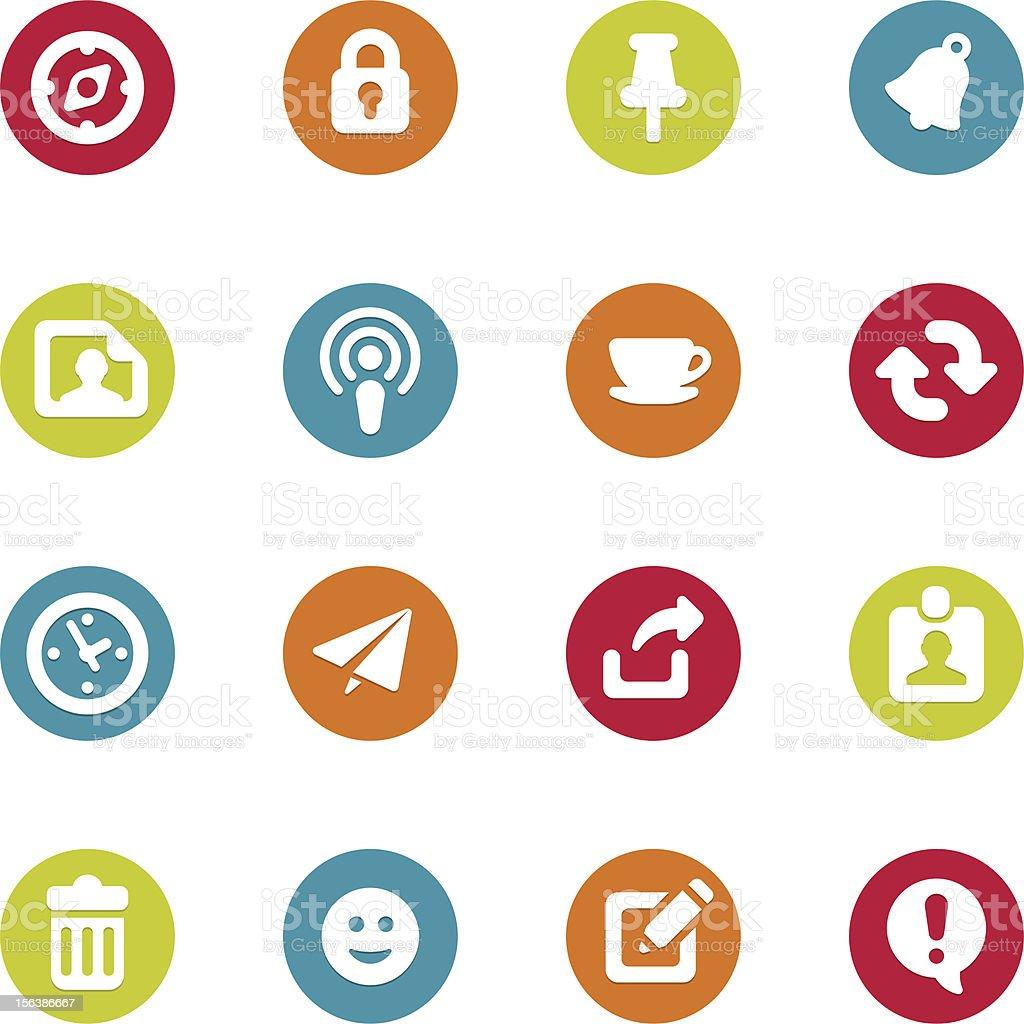 Internet icons set royalty-free stock vector art