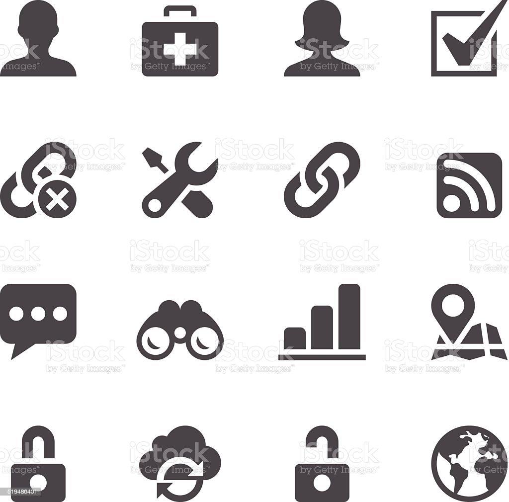 Internet Icons vector art illustration