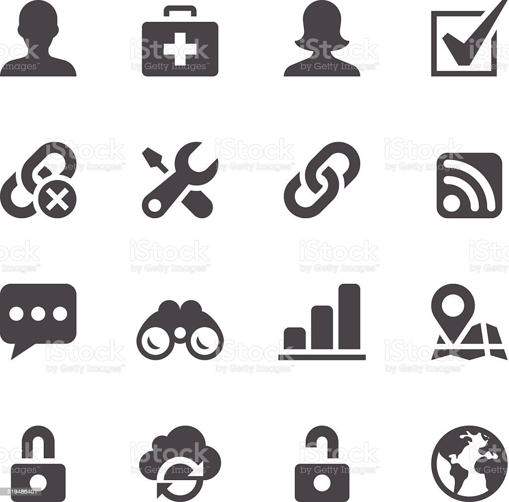 Internet Icons vector art illustration