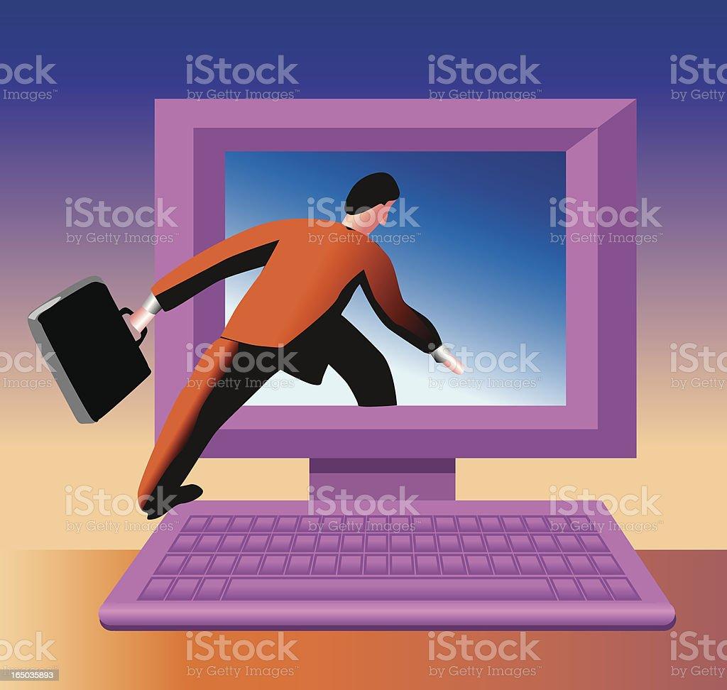 internet job royalty-free stock vector art