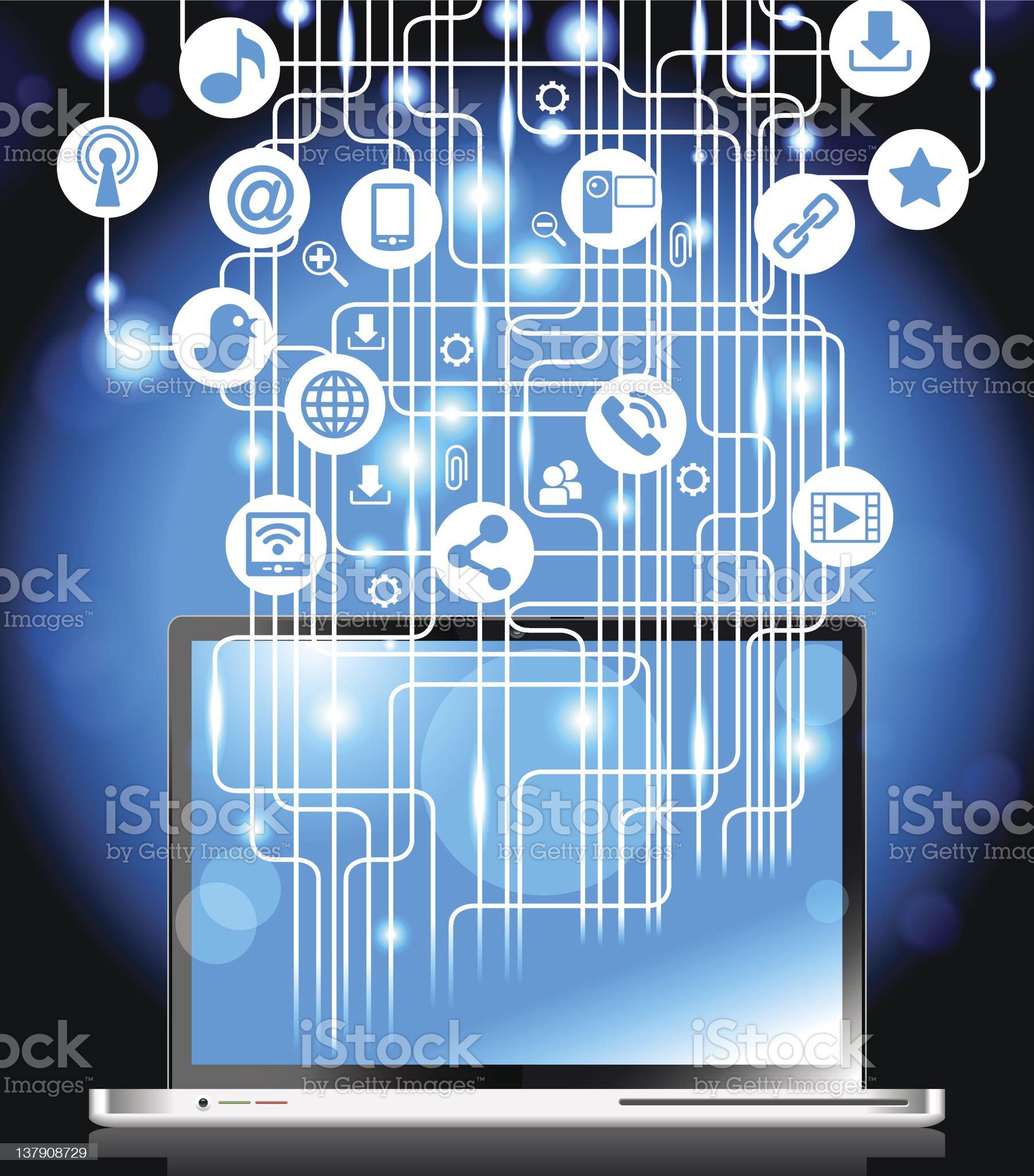 Internet laptop royalty-free stock vector art
